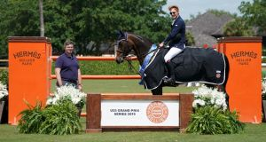 Daniel Coyle and CHS Krooze in their winning presentation in Florida. Photograph: Sportfot
