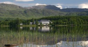 Harvey's Point was opened on the lakes of Lough Eske   in 1989