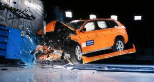 To emphasise its safety message,  Volvo held a high-speed test crash demonstration at its Car Safety Centre.  When developing a new car, 60 to 70 examples of the model are physically crashed with 20,000 computer simulated crashes carried out in tandem.