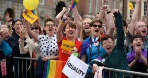 Visibility, and   an accurate sense of how many people share a given identity, plays a key role in identity  politics. Photograph: Dara Mac Dónaill / The Irish Times