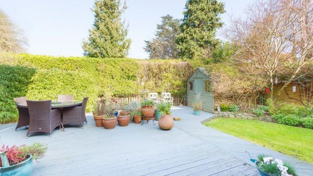 Glendhu, Foxrock: The garden is landscaped and maintained by a gardener