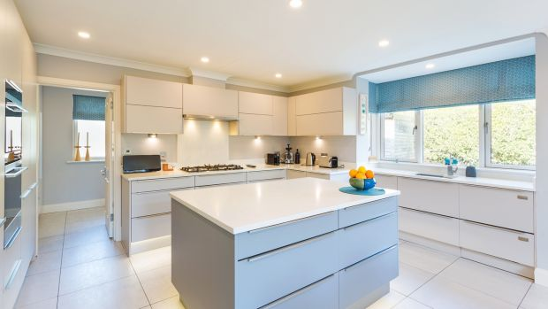 Glendhu, Foxrock: The kitchen is dual aspect, with units by Peadar Ball