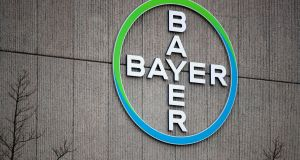 Among the biggest fallers on the European index was Bayer, which was down 2.9 per cent. Photograph: Odd Andersen/AFP/Getty Images