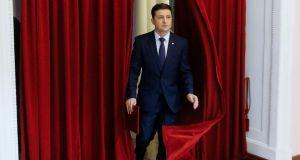 Volodymyr Zelenskiy, Ukrainian comic actor and candidate in the upcoming presidential election. File photograph: Valentyn Ogirenko/Reuters