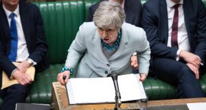 The prime minister Theresa May chaired an emergency cabinet meeting on Monday morning to discuss how to proceed with Brexit after EU leaders set a new series of deadlines last week.  Photograph: UK Parliament/Jessica Taylor/PA