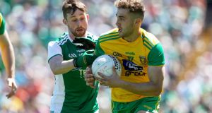 Donegal's Stephen McMenamin has praised the influence of Stephen Rochford. Photograph: Tommy Dickson/Inpho
