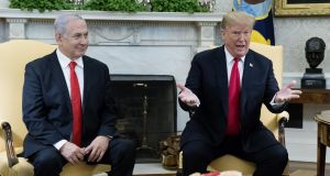 "Israel's prime minister  Binyamin Netanyahu and US president Donald Trump: the 22-month special counsel investigation was a ""terrible thing"". Photograph: Michael Reynolds"