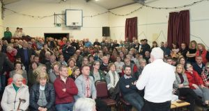 A meeting in Ballinskelligs  called on Kerry TDs to table a private members' bill to ensure that economic and social needs of communities are factored into future planning decisions. Photograph: Christy Riordan