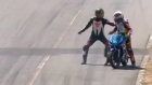 Bikers brawl after mid-race clash in Costa Rica