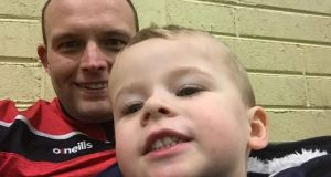 Paul Higgins and his son Zac. 'To see your child that way is the worst feeling I ever had in my life .' Photograph: Facebook