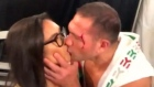 'Unwanted and unsolicited', boxer kisses reporter during interview