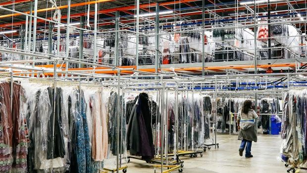 "Rent the Runway's 200,000 sq ft ""Dream Fulfillment Center"" in Secaucus, NJ"