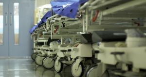 On Tuesday more than 600 patients who require admission to  hospital were waiting on trolleys in emergency departments or on wards for a bed, nurses have said.