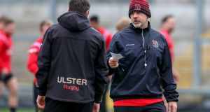 Ulster head coach Dan McFarland during a training session at Pirrie Park. Photograph: Matt Mackey/Inpho