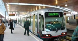 Computer-generated image of what MetroLink arriving at Swords could look like