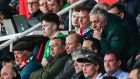 Then FAI chief executive - now executive vice-president - John Delaney in the crowd watching  Saturday's game against Gibraltar. Photograph: James Crombie/Inpho