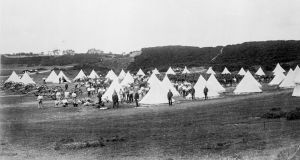 1874: A British military encampment at the Curragh, Co Kildare. Photograph:  Sean Sexton/Getty Images