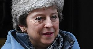 British prime minister Theresa May is still hoping to win a majority for her deal – even if it comes at the price of her premiership. Photograph: Paul Ellis/AFP/Getty