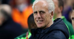 Mick McCarthy was pleased with his team's win and performance against Georgia at the Aviva Stadium last night. Photograph: Catherine Ivill/Getty Images