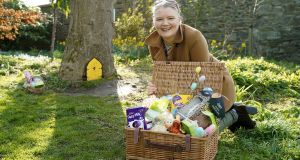 Lidl seasonal coach, Elaine McDonnell prepares for an Easter scavenger hunt for all ages. Photograph: Conor Mulhern