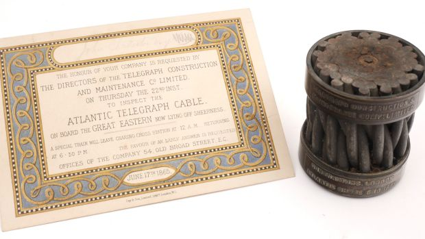 Lot 85: A section of the 1865 Transatlantic Cable (€400-€600) at Whyte's.