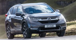 Honda CR-V: Two engines are offered up in Ireland: the 2-litre petrol-electric hybrid – tested here – and a 1.5-litre turbo petrol