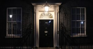 The entrance to number 10 Downing Street in London. British prime minister Theresa May told Conservative MPs she will stand down once Brexit is delivered. Photograph: Chris Ratcliffe/Bloomberg