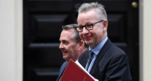 British environment secretary Michael Gove. He said under no-deal there would be zero tariffs on food exports from the Republic to Northern Ireland, while goods travelling from the North to the South could face high tariffs. Photograph: Andy Rain