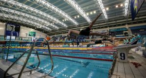 A view of competitors in the Boys 18 & Under 400 LC Meter Freestyle Final during the 2019 Irish Open Long Course Swimming Championships. Photo: Laszlo Geczo/Inpho