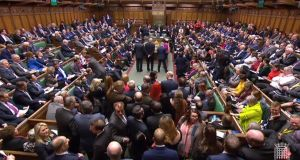 A video grab shows MPs waiting to hear the outcome of indicative votes on the alternative options for Brexit. Image: AFP PHOTO/PRU