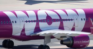 Passengers who are currently overseas and due to return home on WOW air flights have no option but to check available flights with other airlines. Photograph: Mauritz Antin/EPA