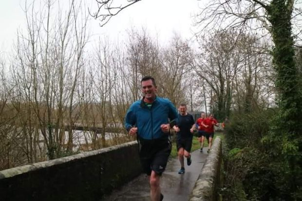Séamus Fogarty running in the Limerick ParkRun at UL campus.