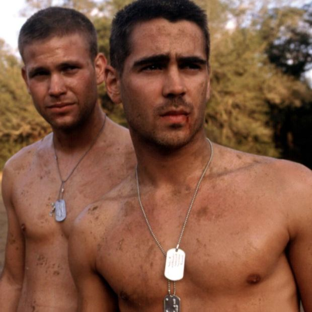 Colin Farrell with Matthew Davis in Tigerland, from 2000