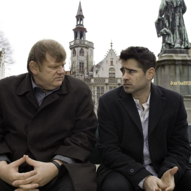 Colin Farrell with Brendan Gleeson in In Bruges, from 2008