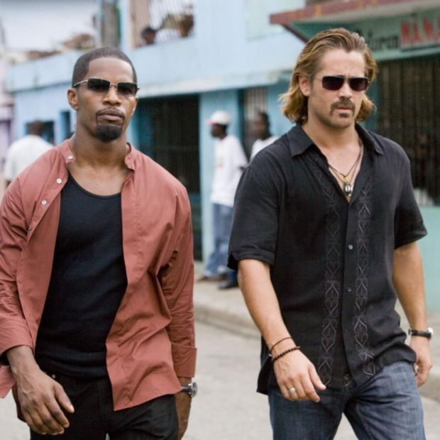 Colin Farell with Jamie Foxx in Miami Vice, from 2006