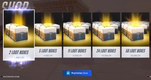 Overwatch loot boxes.  Two loot boxes will cost a player €1.99 in the PlayStation store