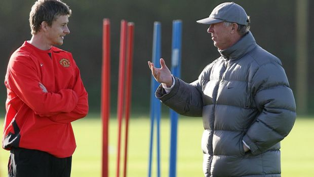 Ole Gunnar Solskjær has sought the guidance of his former manager Alex Ferguson. Photograph: Martin Rickett/PA Wire.