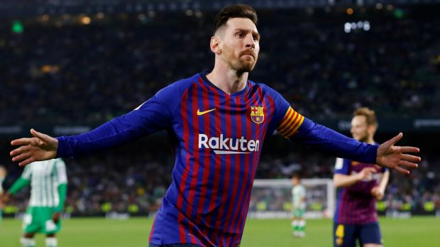 Manchester United face Barcelona and Lionel Messi in the quarter-finals of the Champions League. Photograph: Marcelo del Pozo/Reuters