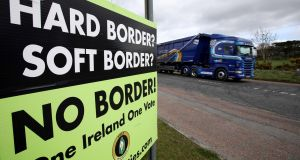 A criminal 'safe haven' could be created at the Border in the event of a no-deal Brexit, a senior PSNI office has warned. Photograph: Paul Faith/AFP/Getty Images