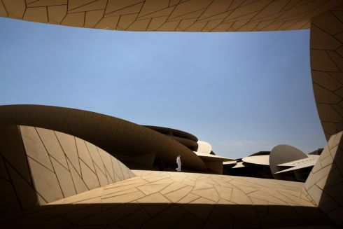 MUSEUM PIECE: A view of the National Museum of Qatar, in the Gulf state's capital Doha. Photograph: Patrick Baz/National Museum of Qatar/AFP/Getty Images