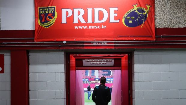 Munster head coach Johann van Graan on his way out at Thomond Park. Photograph: Tommy Dickson/Inpho