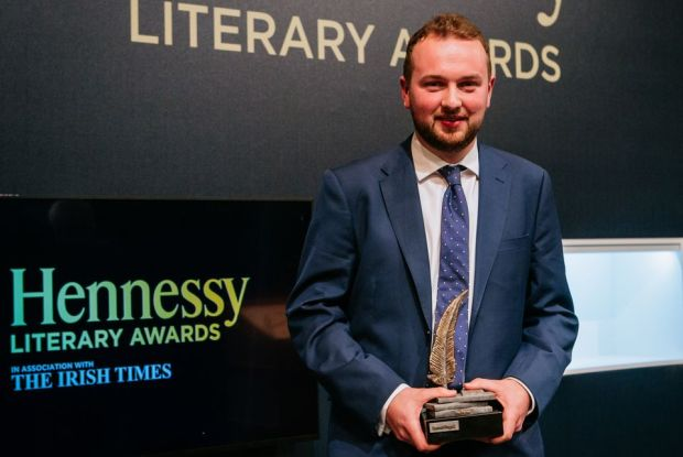 Eamon Doggett, winner of the 2019 Hennessy Literary Award for First Fiction