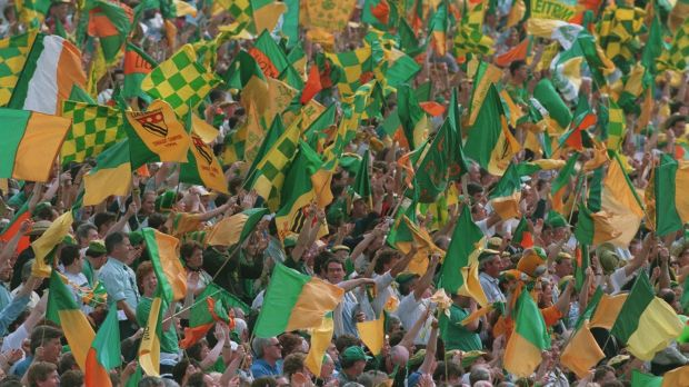 Leitrim fans at the Connacht final in 1994. Photo: Billy Stickland/Inpho
