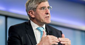 Stephen Moore speaks during a Bloomberg Television interview in Washington, DC, on March 22nd. Trump said he's nominating Moore, a long-time supporter of the president, for a seat on the Federal Reserve Board. Photographer: Andrew Harrer/Bloomberg