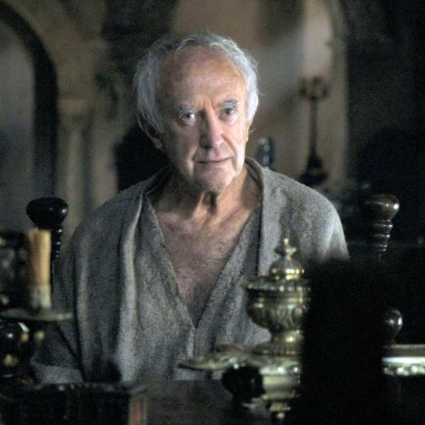 Game of Thrones: the High Sparrow (Jonathan Pryce), leader of the religious sect the Sparrows