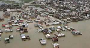 An Iranian village  in the country's northeastern Golestan region shows the extent of the damage caused by recent flooding. Photograph: Handout/Iranian Presidency/AFP/Getty