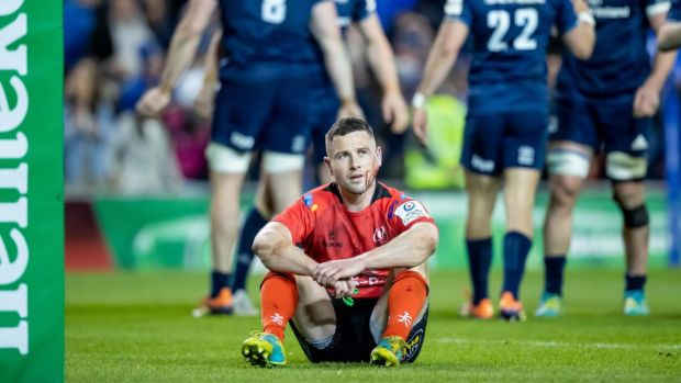 Ulster's John Cooney after the final whistle. Photograph: Morgan Treacy/Inpho