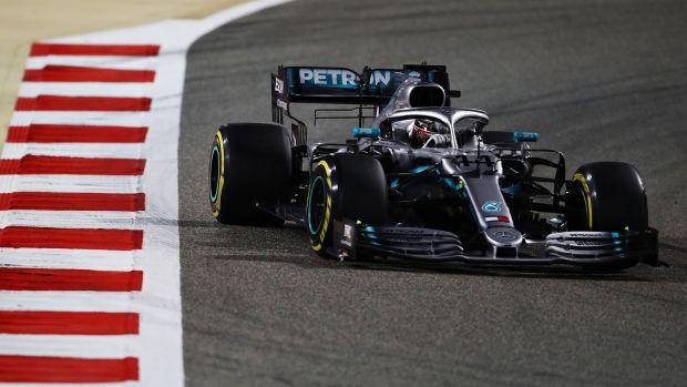 3e18a1982de Lewis Hamilton took the Bahrain Grand Prix. Photograph  Mark Thompson Getty