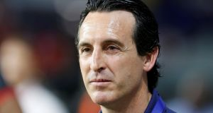 "Arsenal manager  Unai Emery: ""In the table, our objective is very clear – to be in the top four."" Photograph: Reuters/Satish Kumar Subramani"