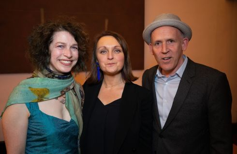 Sonia Haccius, Judy Hegarty Lovett and Conor Lovett. Photograph: Tom Honan